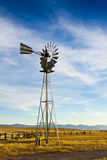 Old Ranch Windmill Stock Photo