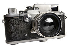 The old  range finder camera. Isolated with clipping path Royalty Free Stock Image