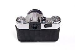 Old range finder vintage camera on white background. Royalty Free Stock Photo