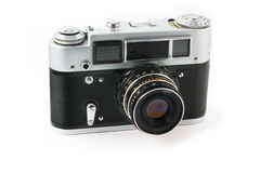 Old rangefinder camera Stock Images