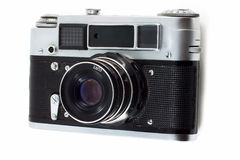 Old rangefinder camera Royalty Free Stock Images