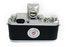 Old Rangefinder Camera Back View Royalty Free Stock Image