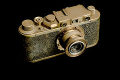Old rangefinder camera Stock Photos