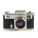 Old rangefinder camera isolated Stock Image