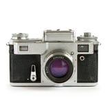Old rangefinder camera isolated. On white background Stock Image