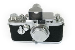 Old Rangefinder Camera Isolated Stock Images