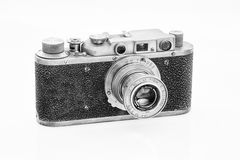 Old rangefinder camera Stock Photo