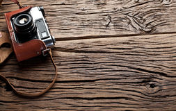 Old rangefinder camera. Royalty Free Stock Photos