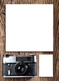 Old rangefinder camera. Stock Photos