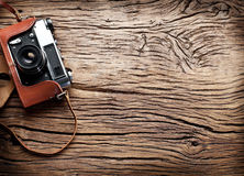Old rangefinder camera. Royalty Free Stock Images