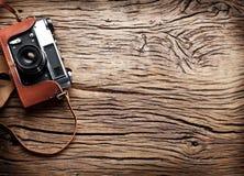 Old rangefinder camera. Royalty Free Stock Images