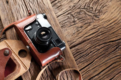 Old rangefinder camera. Stock Photography