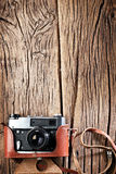 Old rangefinder camera. Royalty Free Stock Photography