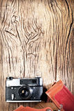 Old rangefinder camera. Royalty Free Stock Photo