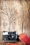 Old rangefinder camera. Royalty Free Stock Photo