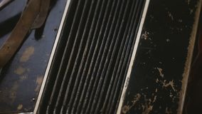 Old rare Accordion in poor condition. stock footage