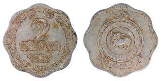 Old rare coin of ceylon Stock Photos