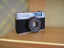 Old rare Soviet half-format camera FED-Micro. Produced from 1968 to 1985 royalty free stock image