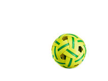 Old rattan ball sepak takraw ball on white background. Sepak Takraw, popular sport in Asia played on a badminton doubles sized court Royalty Free Stock Photo