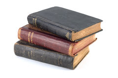 Old readers alpha. Vintage and antique school readers royalty free stock image