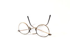 Old reading glasses. On white background Stock Images