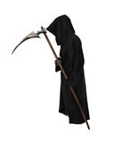 Old Reaper with scythe. On white background Stock Photos