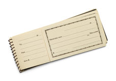 Old Receipt Book Royalty Free Stock Photos