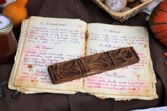 Old recipe book Royalty Free Stock Photo