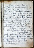 Old Recipes for Damson and Plum Jam royalty free stock photo