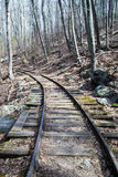 Old Reconstructed Logging Railroad, Blue Ridge Parkway – MP 34.4 Royalty Free Stock Images