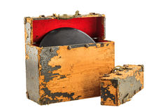 Old Record Box Royalty Free Stock Photography