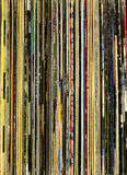 Old record collection background Stock Image