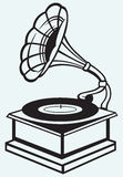 Old record player stock illustration
