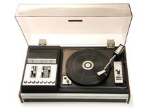 Old record-player royalty free stock image