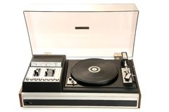 Old Record-player Stock Image