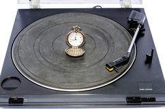 Old record player. Royalty Free Stock Photo
