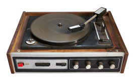 Old record-player isolated on white background Stock Photography