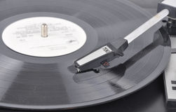 Old Record Player On A Plate Royalty Free Stock Image