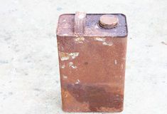 Old rectangular can. With rusts Royalty Free Stock Images
