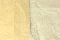 Old recycled blank crumpled papers Royalty Free Stock Image