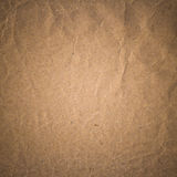 Old recycled sepia color crumpled paper texture background Stock Photography
