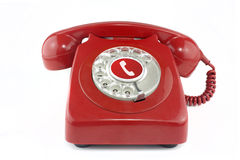 Old red 1970's telephone Royalty Free Stock Photography
