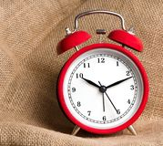 Old red alarm clock Royalty Free Stock Photos