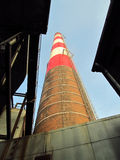Old Red And White Industrial Chimneys Stock Photos