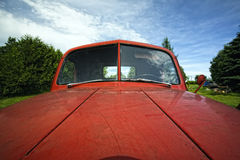 Old Red  Antique Junker Car Royalty Free Stock Photos