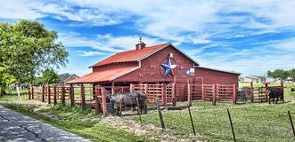 Free Old Red Barn. Stock Images - 114881784