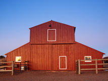Old Red Barn. At the Lakewood Heritage Center, Colorado stock images