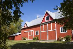 The Old Red Barn Stock Images