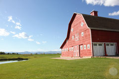 Old Red Barn. A beautiful red barn in Loveland, Colorado Stock Photos