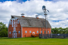 Old Red Barn on Farm Royalty Free Stock Image